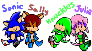 Sonic Plushies by Chuquita