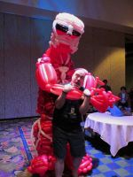 Colossal Titan Balloon Cosplay and Kyle Hebert by NoOrdinaryBalloonMan