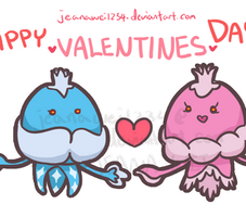 Squishy Jellicents - Happy Valentines Day! by JeanaWei