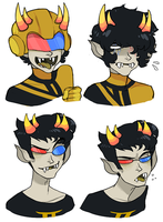 dweeb faces by perditionist