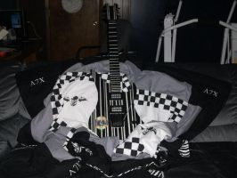 Syn Guitar Clock and A7X Quilt by heavy-metal-chick