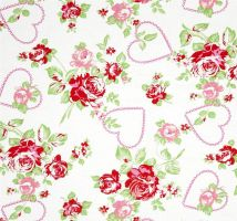 402 Hearts Roses Pink Red Shabby Chic Tanya Whelan by Five5Cats