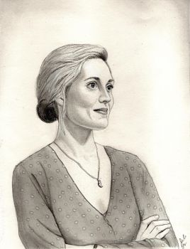 Aurora Luft (X Company Graphite Drawing) by julesrizz