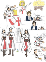 APH - Assassin concept doodles by DraconicNosferatu