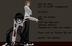 Jeff the killer model DL (Happy Halloween! n w n) by TotodileDash