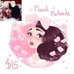 Floral Portrait Commissions by lana-jay