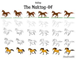Gallop -  The Making Of - by ShadinaLonesea