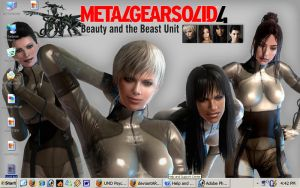 MGS4: Beauty and the Beast by daemon37