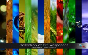 3D Wallpaper Pack 01 by GregorKerle