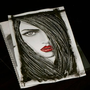 Abstract portrait by Sandrabt8