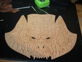 Orc Mask WIP1 by Red-Dragon-Lord