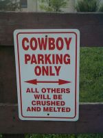 Cowboy Parking by gigs83