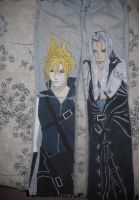Cloud + Sephiroth Pants by DJesterS