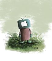 Tv Dude by TheTrashCaretaker