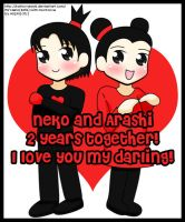 2 Years Together by kaitou-arashi