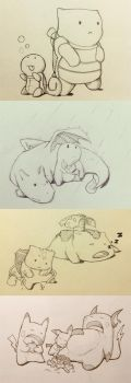 Pokemon Sketches by khuon