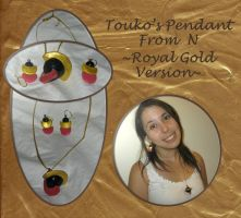 Touko's Pendant From N: Gold by craftysorceress