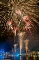 Alster Festival - third photo of the firework by Usagi-Atemu-Tom