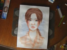 Chell in Watercolour by TwinklePowderySnow