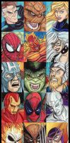 Marvel Superhero Sketchcards by KileyBeecher