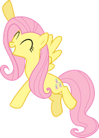 Fluttershy's Happy by Feitaru