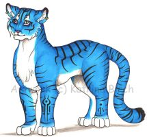 Blue Tiger by fanchielover15