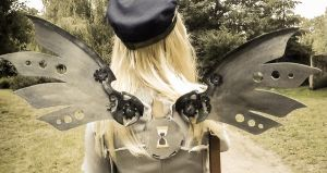 Back Side of Derpy's H Steampunk Wings - Cosplay by psiaknorris