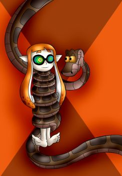 Kaa And Inkling Girl by jerrydestrtoyer
