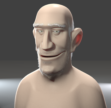 Old man head by abdollah4ever