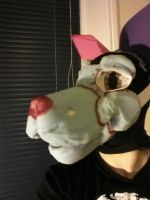 WIP First Fursuit head left by Wolffe-Soulspirit