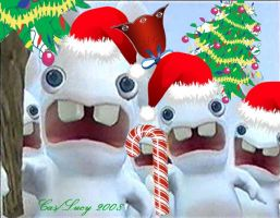 Rabbids on Christmas by CasLucy