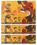 Sparring session by Blasian89