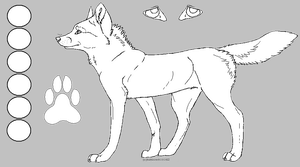Free lineart wolf ref (Transparent) by AStolenRelic