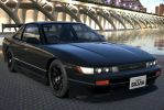 Black Customized Silvia S13 by NightmareRacer85