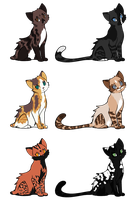 Cat Adoptables: 1 Left by smudge-92