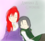 Anissina and Gwendal by EienOfDark