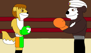 Small Mike VS. Grand Bear by jacobyel