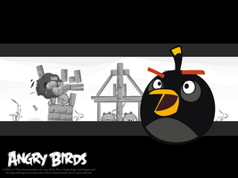 Angry Birds Black Bird/Bomb Wallpaper (Remake) by Jeremiekent13