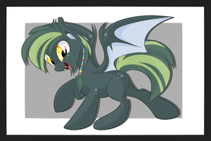 Green Bat-Pony [AUCTION] paypal/points [CLOSED] by BlackFreya