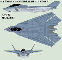 Acernian Commonwealth Air Force AF-192 Maplecat by Zhanrae30