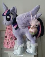 My little pony Princess Twilight Skater Plushie by CINNAMON-STITCH