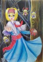 (Commission) Touhou Project: Margatroid Alice by Darktrified