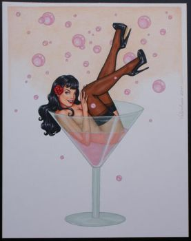 Bettie in a Martini glass by tempestsreign