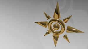 Digimon Adventure Crest of Courage 3D Gold by sharoku