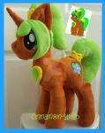 mlp plushie commission MAPLE SYRUP completed by CINNAMON-STITCH
