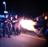 Oakland -  Ferguson protests - police brutality by PartidoDeLaDesgRacia