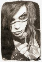 Andy Biersack by psychocrissis
