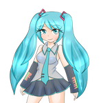 Miku Hatsune Commission for mikelovesanime by LadySelph