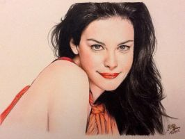 Color pencil portrait of Liv Tyler by chaseroflight
