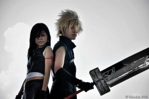 Cloud and Tifa by Risuchia